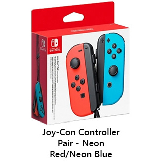 Switch JoyCon Controllers Red and Blue